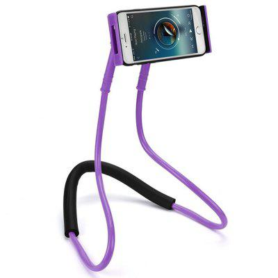 Flexible Hanging Neck Lazy Necklace Bracket Smartphone Holder Stand voor iPhone Huawei