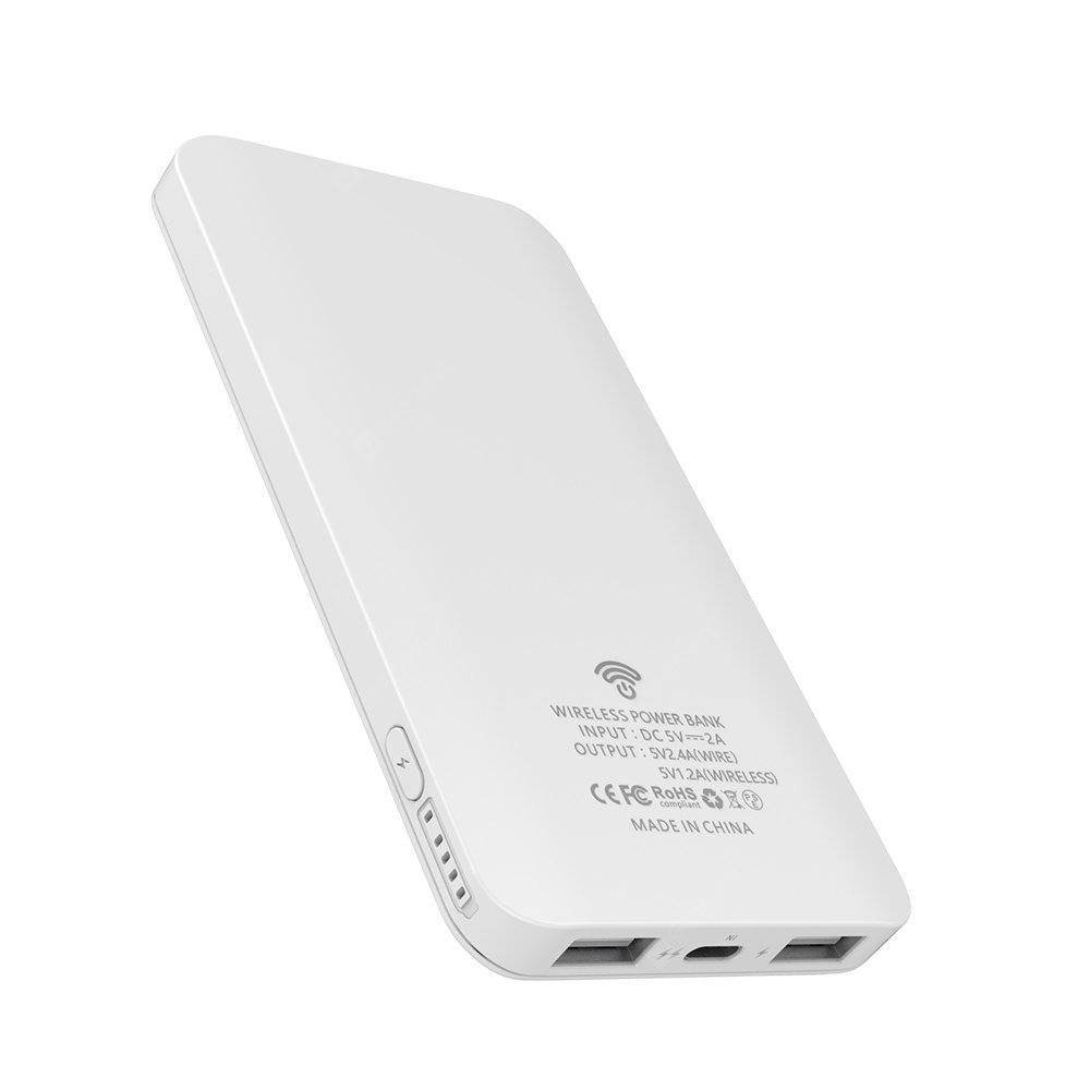 HAMTOD 2 in 1 Wireless Charger Adapter with 5000 mAh Power Bank