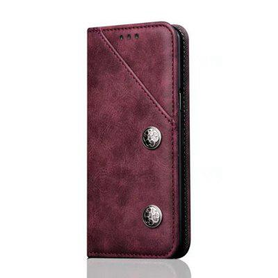 For Samsung Galaxy S9 Plus Leather Case Magnetic Closure Antique Copper Grain Wallet Pouch Cover