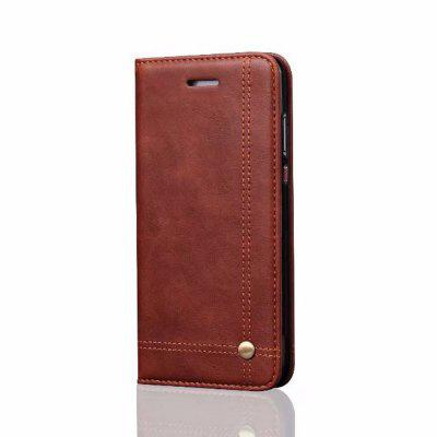 For Huawei P10 Plus Folio Antique Leather Case Magnetic Closure Leisure Stand Cover