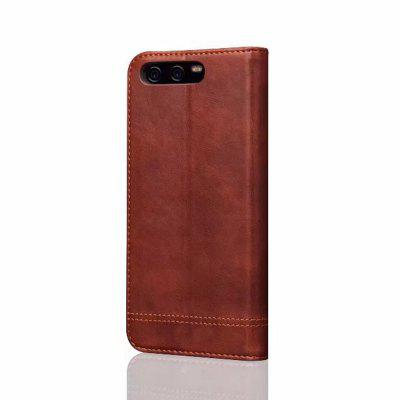 For Huawei P10 Plus Folio Antique Leather Case Magnetic Closure Leisure Stand Cover cover case for huawei p10 lite half a face of a cat pu tpu leather with stand and card slots magnetic closure