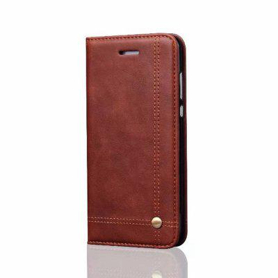 For Huawei P10 Lite Folio Antique Leather Case Magnetic Closure Leisure Stand Cover