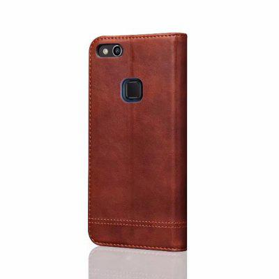 For Huawei P10 Lite Folio Antique Leather Case Magnetic Closure Leisure Stand Cover cover case for huawei p10 lite half a face of a cat pu tpu leather with stand and card slots magnetic closure