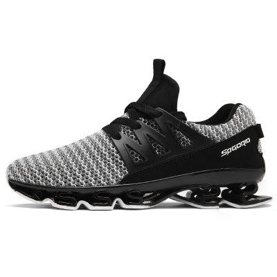 ZEACAVA Men Fashion Sneakers Spring Blade Sole Sport Running ShoesMen's Sneakers<br>ZEACAVA Men Fashion Sneakers Spring Blade Sole Sport Running Shoes<br><br>Available Size: 39-44<br>Closure Type: Lace-Up<br>Feature: Height Increasing<br>Gender: For Men<br>Outsole Material: Rubber<br>Package Contents: 1xShoes(Pair)<br>Package Size(L x W x H): 30.00 x 20.00 x 10.00 cm / 11.81 x 7.87 x 3.94 inches<br>Package weight: 0.5500 kg<br>Pattern Type: Solid<br>Season: Spring/Fall<br>Upper Material: PU