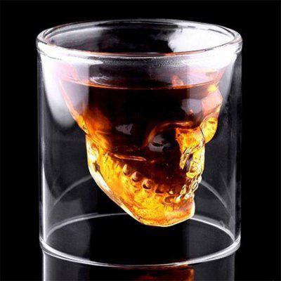 Creative Skull Shooting Glass Beer Cup Double Transparent Drink