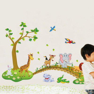 DSU Lovely Childrenu0027S Room Wall Forest Animal Cartoon Kindergarten Wall  Decoration Stickers