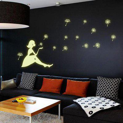 DSU Dandelion Girl Noctilucent Fluorescent WallpaperWall Stickers<br>DSU Dandelion Girl Noctilucent Fluorescent Wallpaper<br><br>Brand: DSU<br>Function: Decorative Wall Sticker, 3D Effect<br>Material: Vinyl(PVC)<br>Package Contents: 1 x Wall Sticker<br>Package size (L x W x H): 45.00 x 4.00 x 4.00 cm / 17.72 x 1.57 x 1.57 inches<br>Package weight: 0.2000 kg<br>Product size (L x W x H): 30.00 x 21.00 x 0.10 cm / 11.81 x 8.27 x 0.04 inches<br>Product weight: 0.1500 kg<br>Quantity: 1<br>Subjects: Fashion,Others,Holiday,Cute,Cartoon<br>Suitable Space: Living Room,Bathroom,Bedroom,Dining Room,Hotel,Cafes<br>Type: 3D Wall Sticker