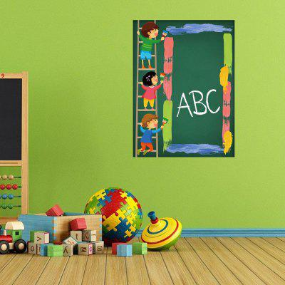 DSU The Blackboard with The Kindergarten Classroom Wall StickerWall Stickers<br>DSU The Blackboard with The Kindergarten Classroom Wall Sticker<br><br>Brand: DSU<br>Function: 3D Effect<br>Material: Vinyl(PVC)<br>Package Contents: 1 x Wall Sticker<br>Package size (L x W x H): 50.00 x 6.00 x 6.00 cm / 19.69 x 2.36 x 2.36 inches<br>Package weight: 0.2500 kg<br>Product size (L x W x H): 90.00 x 45.00 x 0.10 cm / 35.43 x 17.72 x 0.04 inches<br>Product weight: 0.2000 kg<br>Quantity: 1<br>Subjects: Fashion,Others<br>Suitable Space: Living Room,Bedroom,Dining Room<br>Type: 3D Wall Sticker, Plane Wall Sticker