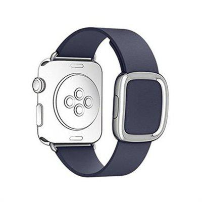 42MM Magnetic Closure Genuine Leather Wrist Band Strap for iWatch Series 3 2 1