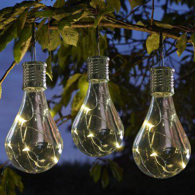 Hanging Solar Light Bulb with Hook