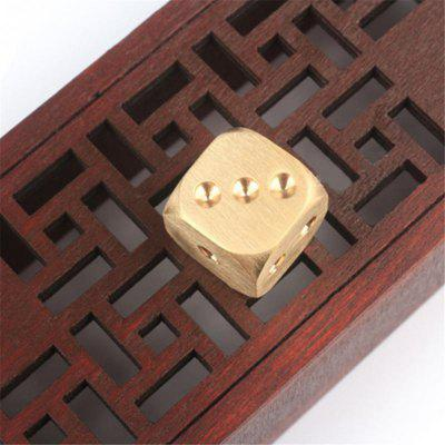 Golden Pure Color Copper Polyhedral Metal Solid Playing Game Tool