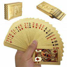 Durable Waterproof Gold Foil Poker Playing Cards Deck Gift Board Games