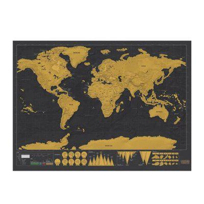 High Quality Large Size Personalized Scratch-off World Map Poster Travel ToyNovelty Toys<br>High Quality Large Size Personalized Scratch-off World Map Poster Travel Toy<br><br>Features: Creative Toy<br>Materials: Paper<br>Package Contents: 1 x Scratch-off Map, 1 x Round Tube<br>Package size: 32.00 x 5.50 x 5.50 cm / 12.6 x 2.17 x 2.17 inches<br>Package weight: 0.0330 kg<br>Product size: 42.30 x 30.00 x 0.20 cm / 16.65 x 11.81 x 0.08 inches<br>Product weight: 0.0230 kg<br>Series: Entertainment,Lifestyle<br>Theme: Classic Theme