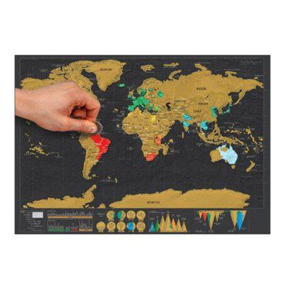 High Quality Large Size Personalized Scratchoff World Map Poster - High quality world map poster