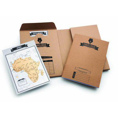 High Quality TRAVELOGUE Scratch Notebook Version Log Travel Logs Map