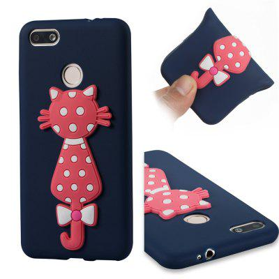 Case For Huawei  Enjoy 7 Soft 3D Flower Cat Phone Case