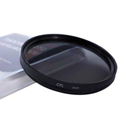 CPL Filter for 40.5mm/49mm/52mm/55mm/58mm/62mm/67mm/72mm/77mm/82mmFilter<br>CPL Filter for 40.5mm/49mm/52mm/55mm/58mm/62mm/67mm/72mm/77mm/82mm<br><br>Material of filter frame: Aviation Aluminium Material<br>Material of lens: Optical glass<br>Package Contents: 1 x Filter<br>Package size (L x W x H): 14.00 x 9.50 x 1.70 cm / 5.51 x 3.74 x 0.67 inches<br>Package weight: 0.0800 kg<br>Product size (L x W x H): 9.00 x 7.30 x 1.00 cm / 3.54 x 2.87 x 0.39 inches<br>Product weight: 0.0400 kg<br>Type: CPL Filter