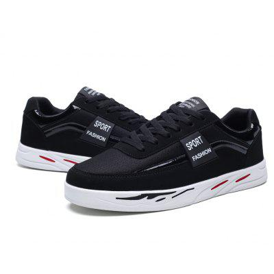Students Casual Breathable Board ShoesMen's Sneakers<br>Students Casual Breathable Board Shoes<br><br>Available Size: 39,40,41,42,43,44<br>Closure Type: Lace-Up<br>Feature: Breathable<br>Gender: For Men<br>Outsole Material: Rubber<br>Package Contents: 1 x shoes(pair)<br>Package Size ( L x W x H ): 29.50 x 19.00 x 9.00 cm / 11.61 x 7.48 x 3.54 inches<br>Pattern Type: Others<br>Type: Casual Shoes<br>Upper Material: PU<br>Weight: 1.0089kg