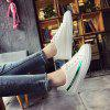 Lace Literary Leisure Street Shoot Flat Shoes - GREEN