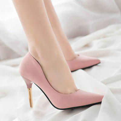 Sharp Pointed with Spring Shoes New Casual High-Heeled ShoesWomens Pumps<br>Sharp Pointed with Spring Shoes New Casual High-Heeled Shoes<br><br>Available Size: 35 36  37 38 39<br>Heel Height Range: High(3-3.99)<br>Heel Type: Stiletto Heel<br>Insole Material: PU<br>Lining Material: PU<br>Occasion: Dress<br>Outsole Material: Rubber<br>Package Contents: 1 x Shoes (pair)<br>Pumps Type: Basic<br>Season: Summer, Spring/Fall<br>Shoe Width: Medium(B/M)<br>Toe Shape: Pointed Toe<br>Toe Style: Closed Toe<br>Upper Material: PU<br>Weight: 1.3200kg