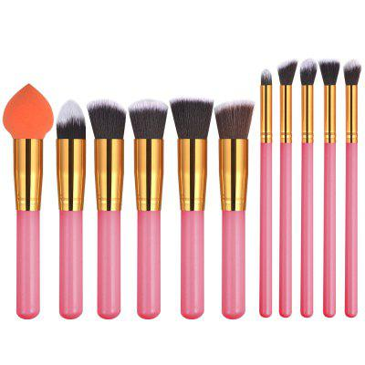 Buy 11PCS Pink Gold High Quality Professional Makeup Brushes Set PINK + GOLD for $13.52 in GearBest store