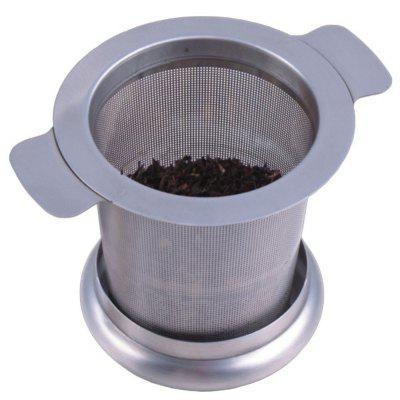 Tea Strainer Stainless Steel Water Filter with Double Handles for Hanging on Teapots Mugs