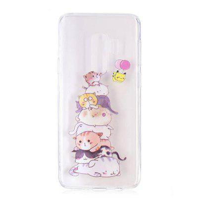 TPU Material Cats Pattern Painted Phone Case for Samsung Galaxy S9 Plus