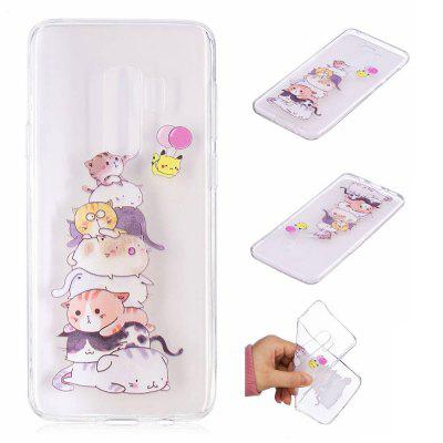 TPU Material Cats Pattern Painted Phone Case for Samsung Galaxy S9 PlusSamsung S Series<br>TPU Material Cats Pattern Painted Phone Case for Samsung Galaxy S9 Plus<br><br>Color: Colorful<br>Compatible with: SAMSUNG<br>Features: Back Cover<br>For: Samsung Mobile Phone<br>Material: TPU<br>Package Contents: 1 x Phone Case<br>Package size (L x W x H): 20.00 x 12.00 x 1.00 cm / 7.87 x 4.72 x 0.39 inches<br>Package weight: 0.0210 kg<br>Product size (L x W x H): 15.80 x 7.80 x 0.80 cm / 6.22 x 3.07 x 0.31 inches<br>Product weight: 0.0200 kg<br>Style: Pattern