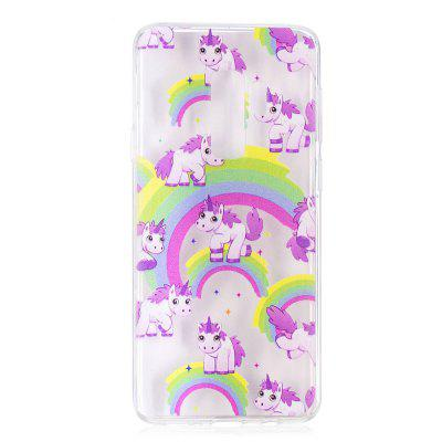 TPU Material Unicorn Pattern Painted Phone Case for Samsung Galaxy S9 Plus