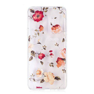 TPU Material Rose Pattern Painted Phone Case for Samsung Galaxy S9 Plus