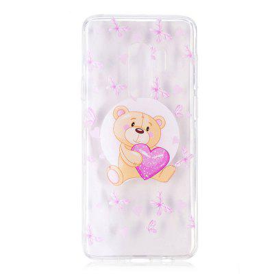 TPU Material Bear Pattern Painted Phone Case for Samsung Galaxy S9 Plus