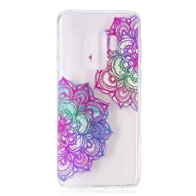TPU Material Mandala Pattern Painted Phone Case for Samsung Galaxy S9 Plus