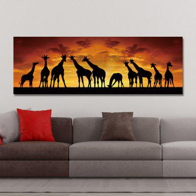 DYC 10672 Photography Giraffe Sunrise Scenery Print ArtPrints<br>DYC 10672 Photography Giraffe Sunrise Scenery Print Art<br><br>Craft: Print<br>Form: One Panel<br>Material: Canvas<br>Package Contents: 1 x Print<br>Package size (L x W x H): 34.00 x 8.00 x 8.00 cm / 13.39 x 3.15 x 3.15 inches<br>Package weight: 0.3200 kg<br>Painting: Without Inner Frame<br>Product size (L x W x H): 30.00 x 90.00 x 1.00 cm / 11.81 x 35.43 x 0.39 inches<br>Product weight: 0.1900 kg<br>Shape: Horizontal<br>Style: Scenic, Scenery / Landscape<br>Subjects: Landscape<br>Suitable Space: Garden,Living Room,Hotel,Kids Room,Kids Room,Study Room / Office,Game Room