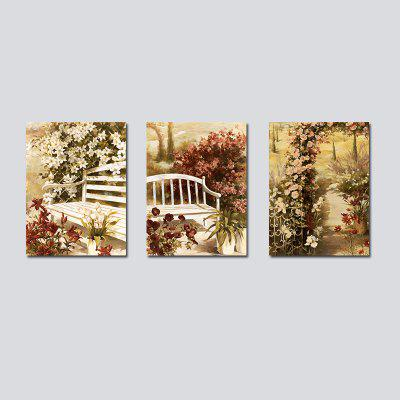 QiaoJiaHuaYuan No Frame Canvas Simulates oil Painting Sitting Room Sofa Background Triplet Decorate a Picture of The Bed
