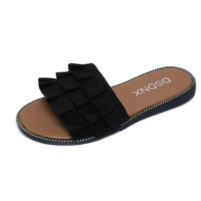 All-Match Suede Comfortable ShoesSlippers &amp; Flip-Flops<br>All-Match Suede Comfortable Shoes<br><br>Available Size: 35,36,37,38,39<br>Gender: For Women<br>Heel Type: Flat Heel<br>Package Contents: 1xShoes pair<br>Pattern Type: Solid<br>Season: Summer<br>Slipper Type: Outdoor<br>Style: Leisure<br>Upper Material: Flock<br>Weight: 0.6240kg