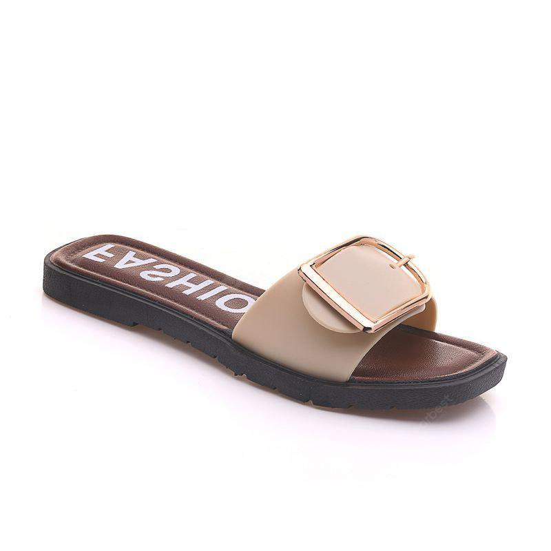 Buckle Flat Casual All-Match Slippers