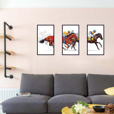 DSU The Bedroom Dining Room Wall Photo Frame with Horse Racing Simulation PVC Personalized DecorationWall Stickers<br>DSU The Bedroom Dining Room Wall Photo Frame with Horse Racing Simulation PVC Personalized Decoration<br><br>Brand: DSU<br>Function: Decorative Wall Sticker, Fridge Sticker, 3D Effect<br>Material: Vinyl(PVC)<br>Package Contents: 1 x Wall Sticker<br>Package size (L x W x H): 65.00 x 6.00 x 6.00 cm / 25.59 x 2.36 x 2.36 inches<br>Package weight: 0.2500 kg<br>Product size (L x W x H): 90.00 x 60.00 x 0.10 cm / 35.43 x 23.62 x 0.04 inches<br>Product weight: 0.2000 kg<br>Quantity: 1<br>Subjects: Fashion,Others<br>Suitable Space: Garden,Living Room,Bathroom,Bedroom<br>Type: 3D Wall Sticker