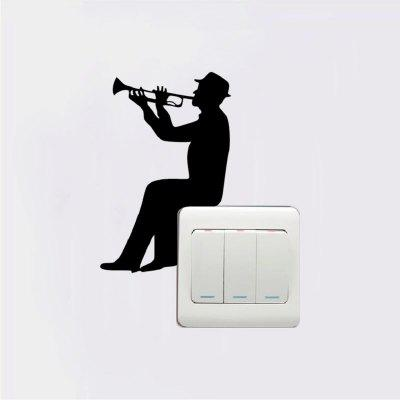 DSU MC-3 Cute Music Switch Sticker Cartoon Vinyl Wall Sticker for Kids Room Home DecorWall Stickers<br>DSU MC-3 Cute Music Switch Sticker Cartoon Vinyl Wall Sticker for Kids Room Home Decor<br><br>Brand: DSU<br>Function: 3D Effect, Fridge Sticker, Light Switch Stickers<br>Material: Vinyl(PVC)<br>Package Contents: 1 x Wall Sticker<br>Package size (L x W x H): 15.00 x 3.00 x 3.00 cm / 5.91 x 1.18 x 1.18 inches<br>Package weight: 0.1400 kg<br>Product size (L x W x H): 13.00 x 8.50 x 0.10 cm / 5.12 x 3.35 x 0.04 inches<br>Product weight: 0.0900 kg<br>Quantity: 1<br>Subjects: People,Fashion,Vintage,Others<br>Suitable Space: Garden,Living Room<br>Type: Plane Wall Sticker, 3D Wall Sticker