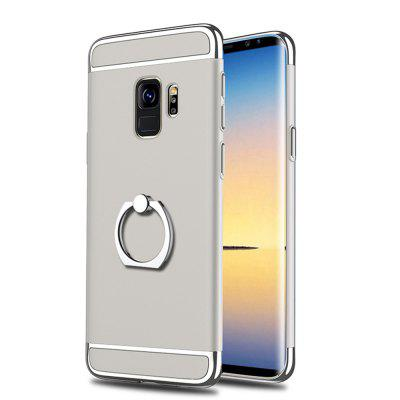 Cover Case for Samsung Galaxy S9 Plus 3 In 1 Ultra Thin Ring Holder and Hard Coated Non Slip Matte Surface with Electrop