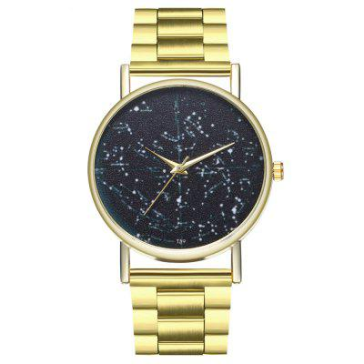 Zhou Lianfa New Fashion Luxury Black Star Steel Band Quartz Watch