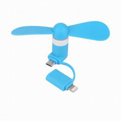 Mini 2 in 1 Portable Micro USB Hand Fan for iPhone 5/6/Samsung/HTC/Android OTG Smartphones USB Gadget