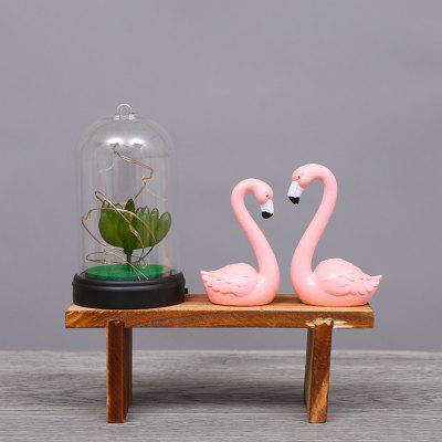Creative Flamingo Night Light Wooden Ornaments