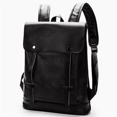 Preppy Style Leather School Backpack Bag For College Simple Design Men Casual Daypacks New