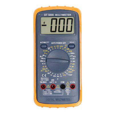 DT-5808 LCD Handheld Digital Multimeter Using for Home and Car