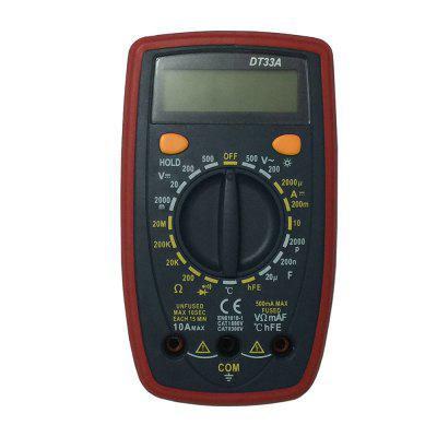 DT33A LCD Handheld Digital Multimeter Using for Home and Car