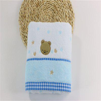 Soft Fabric Towel Embroidered With Satin Cotton Washcloth Absorbent Square Towel Home Textile