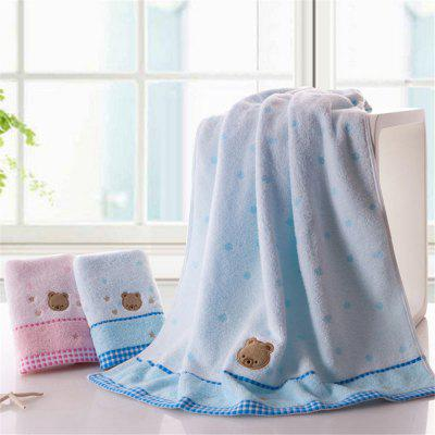 Soft Fabric Towel Embroidered With Satin Cotton Washcloth Absorbent Bath Towel Home Textile