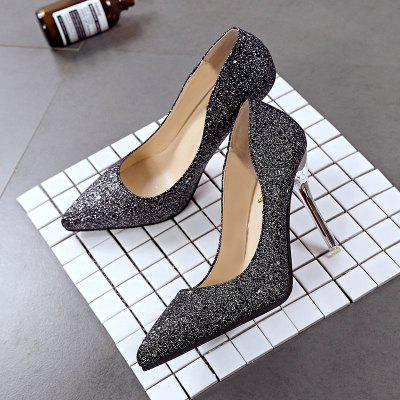 Single New Casual High-heeled ShoesWomens Pumps<br>Single New Casual High-heeled Shoes<br><br>Available Size: 35 36  37 38 39<br>Heel Type: Stiletto Heel<br>Insole Material: PU<br>Lining Material: PU<br>Occasion: Office &amp; Career<br>Outsole Material: Rubber<br>Package Contents: 1 x Shoes (pair)<br>Pumps Type: Mary Janes<br>Season: Summer, Spring/Fall<br>Shoe Width: Medium(B/M)<br>Toe Shape: Pointed Toe<br>Toe Style: Closed Toe<br>Upper Material: PU<br>Weight: 1.3200kg