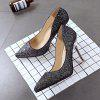 Single New Casual High-heeled Shoes - BLACK