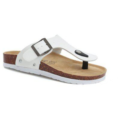 Set Refers To The Flat Sand Beach Slippers Angle